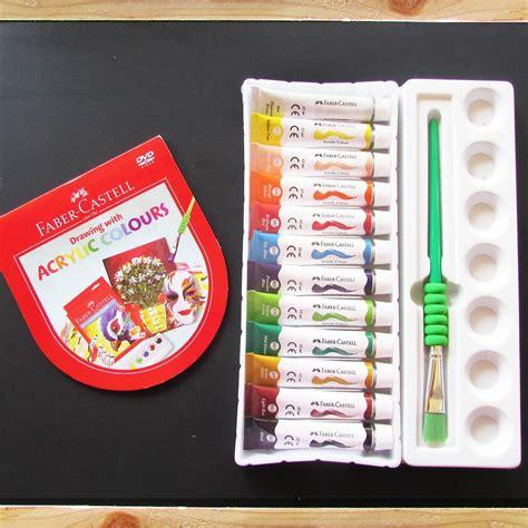 Cat Akrilik Lukis faber castell cat akrilik cat lukis 12 warna acrylics
