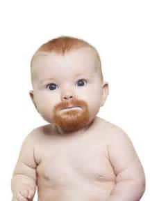 stock photos that make us wish more babies had beards