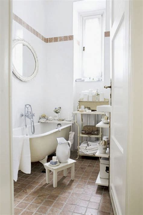 bathroom in french simple small bathroom with white tub white wall tiles and