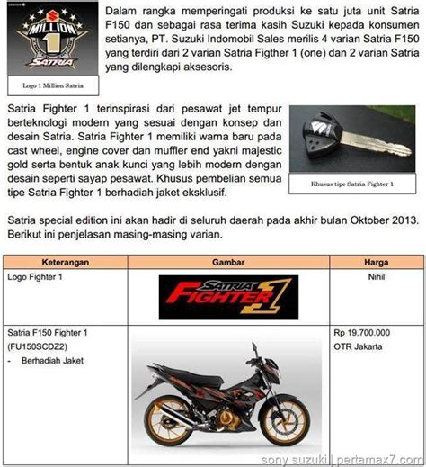 Security Alarm Satria Fu suzuki satria fighter 1 dijual rp 20 2 jutaan plus alarm