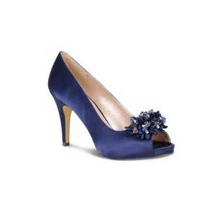 Shoes Uk Lunar Flr117 Navy Blue Satin Shoe With Bead Trim Lunar