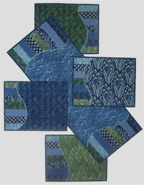 Patchwork Table Mats Pattern - waves quilt runners placemats