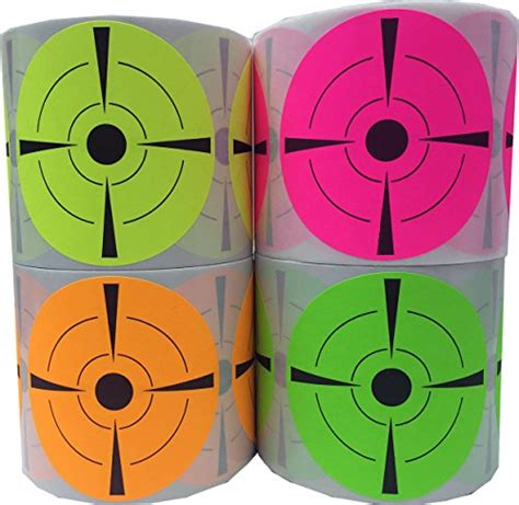 Target Yellow L by Fluorescent Target Stickers Bulk Pack Flo Green Flo Yellow