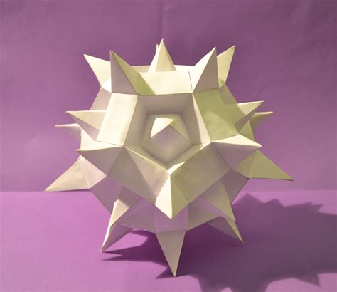 Virus Origami - papercraft white virus by deuxmetrescubes on deviantart