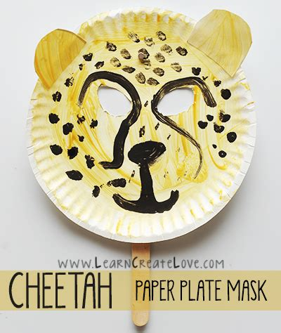 cheetah mask template cheetah mask craft learncreatelove learncreatelove