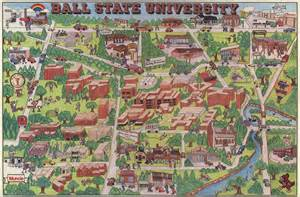 Ball State Campus Map by Gis Research And Map Collection Ball State University