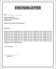 eviction letter templates sle eviction notice template 37 free documents in
