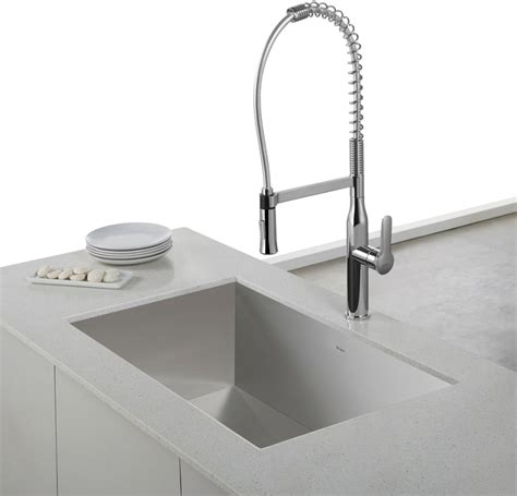 industrial kitchen sink faucet kraus kpf1650ss single lever commercial style kitchen