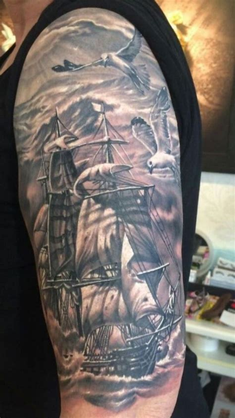 sailing ship tattoo 30 ship tattoos tattoofanblog