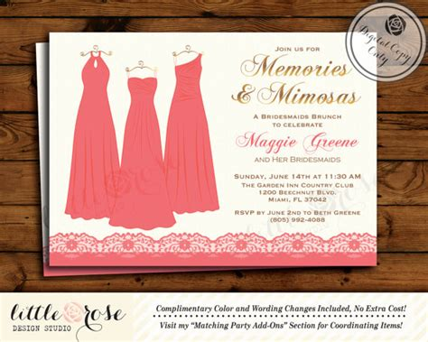 invitations for bridal shower luncheon bridesmaids brunch invitation bridesmaids luncheon