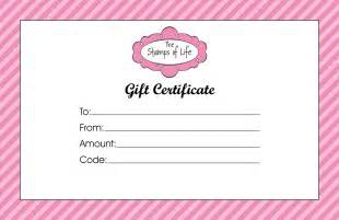gift certificate template for haircut choice image