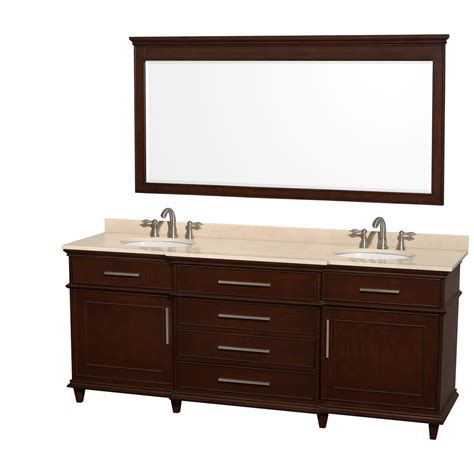 80 inch double sink bathroom vanity ackley 80 inch dark chestnut finish double sink bathroom