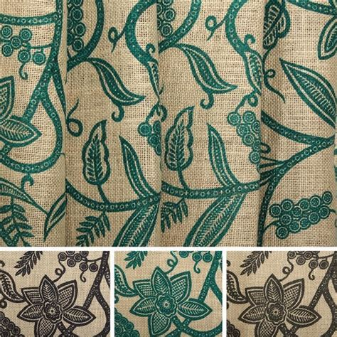patterned hessian fabric upholstery hessian printed floral swirl woven natural