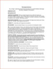 discharge summary template surgery discharge summary template proposalsheet