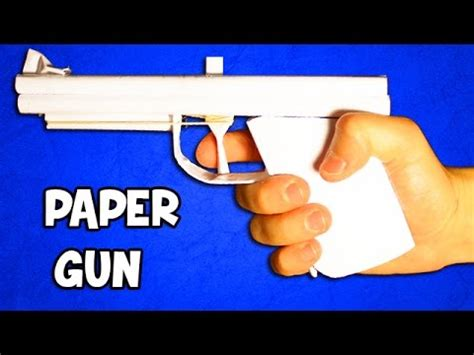 How To Make A Paper Gun That Shoots Without Blowing - how to make a paper gun that shoots