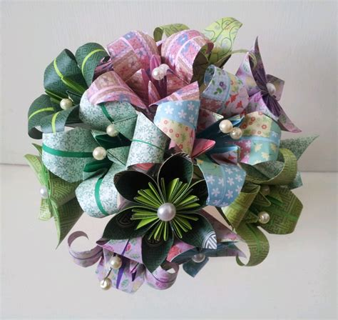 Paper Flower Bouquet Craft - handmade paper flowers handmade handmade