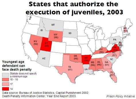 Executions In The U S In 2003 Death Penalty Information | states that authorize execution of juveniles prison