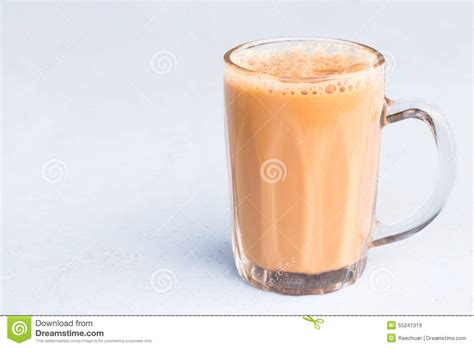 Teh Tarik Malaysia tea with milk or popularly known as teh tarik in malaysia