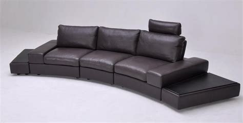 overnice curved sectional sofa in leather virginia