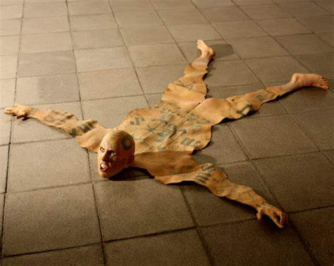 human skin rug meet the artist turning gangsters into rug sculptures