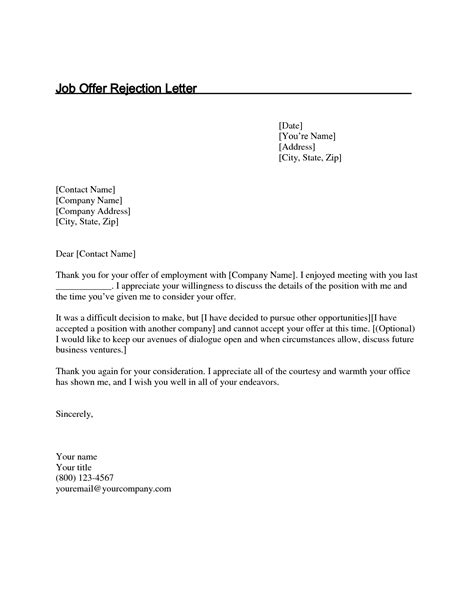 thank you letter after overqualified thank you letter offer not accepting cover letter