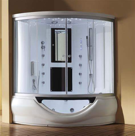 steam shower bathtub combo 59 quot eagle bath m a6012 steam shower enclosure w whirlpool