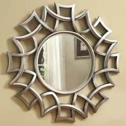 Chicago furniture round wall mirror in silver finish