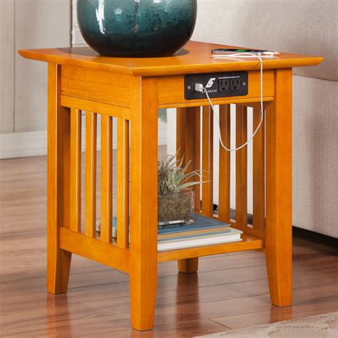 end table with charging station three posts danube end table with charging station