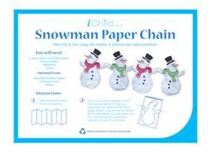 snowman paper chain ichild