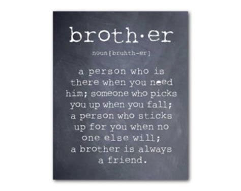 printable brother quotes wall art a brother is a person brother quote