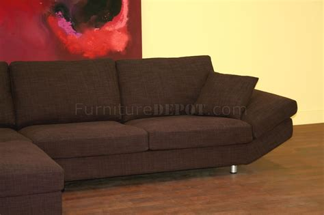 Dark Purple Fabric Sectional Sofa