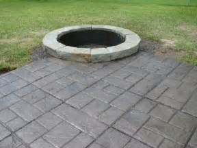 inspirational concrete patio designs with pit 98 in