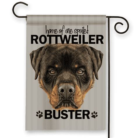 rottweiler dog house rottweiler dog breed personalized house garden flag banner front porch garden flags