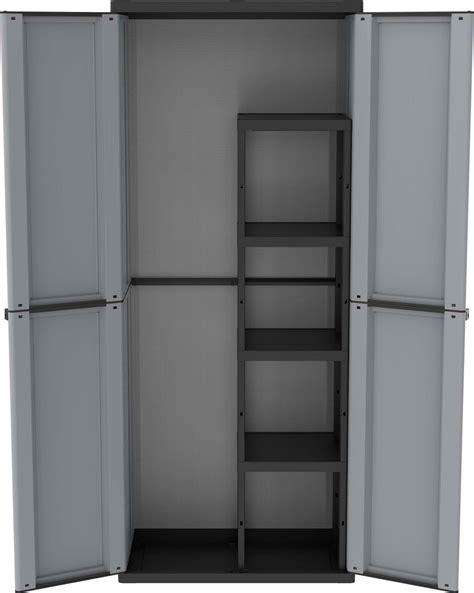 armadi in resina da esterno terry armadio per esterno in resina 2 ante 4 ripiani 68 x