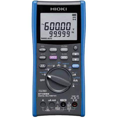 Hioki Dt4282 Digital Multimeter dt4282 hioki dt4282 true rms digital multimeter 1000v ac dc 60 000 count with 10a direct