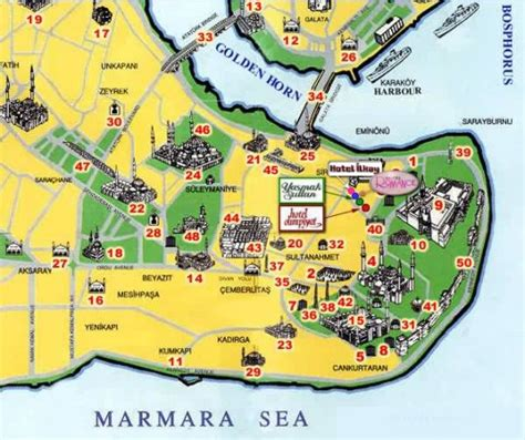 istanbul map tourist attractions istanbul map attractions