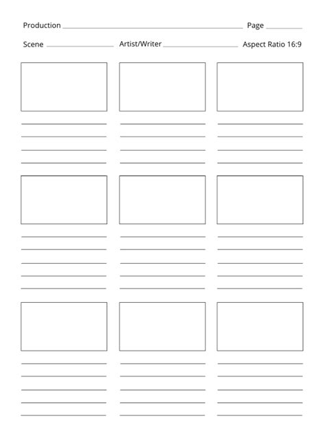 storyboard template 6 boxes free clipart popular 1001freedownloads