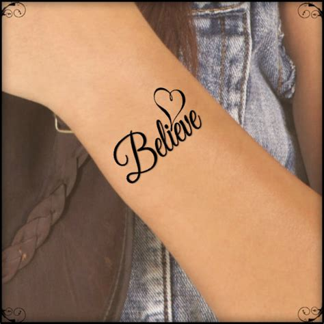 heartbeat temporary tattoo temporary tattoo believe heart fake tattoo thin durable