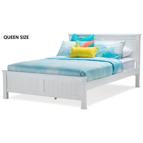 Queen Bed Frames Canberra Snow Queen Size Wooden Geometric Bed Frame White Buy