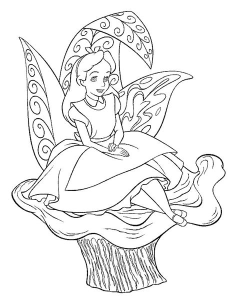 coloring page alice in wonderland coloring pages 3
