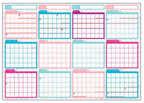 printable wall planner 2015 free 2015 wall planner sent to print 187 the makers collective
