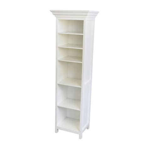 82 Off Pottery Barn Pottery Barn White Wood Linen Shelf White Shelves