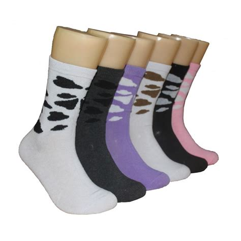 bulk patterned socks wholesale women s patterned crew socks at