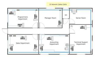 Create A Floor Plan For A Business Common Network Diagram
