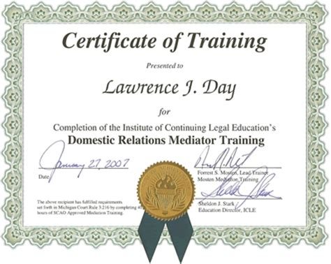 Job Resume Microsoft Word by Mediation Services Lawrence J Day Mediator And Attorney Certificates And Training