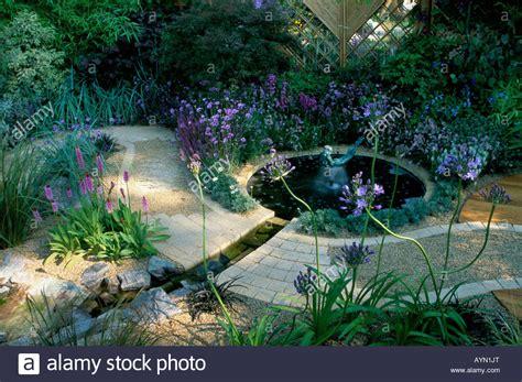 Feng Shui Garden Decor Feng Shui Garden Design Woods Cool Blue Colour Border Circular Stock Photo Royalty Free