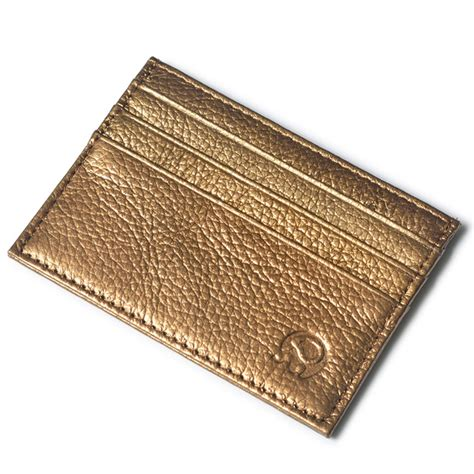 Walet Gold wallet small leather credit card wallet gold wallets