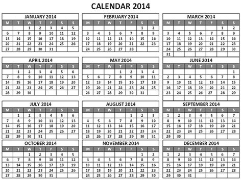 search results for 12 month calendar one page 2014