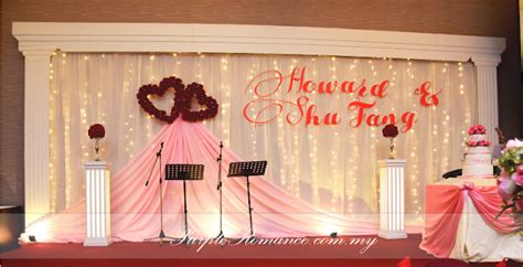 Wedding Banquet Backdrop by Wedding Decoration At Harmony Banquet Restaurant Puchong