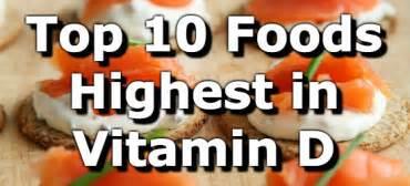 Top 10 foods highest in vitamin d